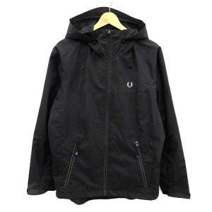 【中古】フレッドペリー FRED PERRY ジャケット マウンテンパーカー ロゴ S 黒 ブラック...
