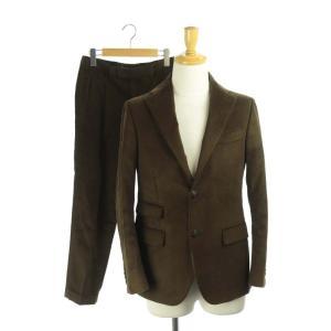 【中古】ザジジ THE GIGI スーツ セットアップ 上下 ジャケット パンツ モールスキン 背抜...