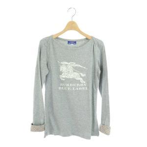 【中古】バーバリーブルーレーベル BURBERRY BLUE LABEL Tシャツ カットソー ロゴ...