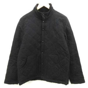 【中古】フレッドペリー FRED PERRY キルティングジャケット 中綿 L 黒 ブラック /EK...