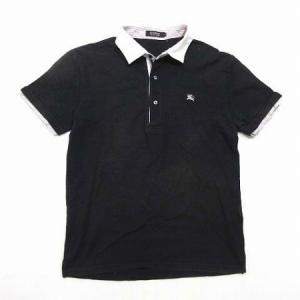 バーバリーブラックレーベル BURBERRY BLACK LABEL ポロシャツ 鹿の子 半袖 ロゴ...