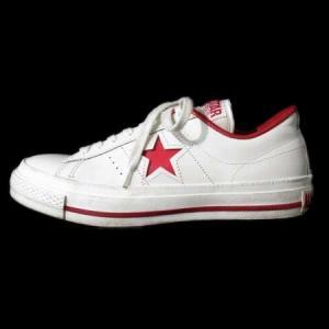 コンバース CONVERSE オールスター ALL STAR スニーカー ローカット ワンスター ONE STAR J 白 赤 4 1/2 シューズ 靴 レディース【中古】【ベクトル 古着】|vectorpremium