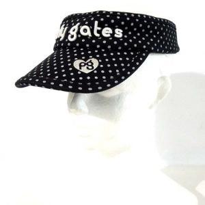 【中古】パーリーゲイツ PEARLY GATES サンバイザー 帽子 キャップ ゴルフ ドット ロゴ...