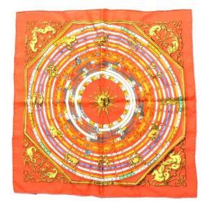 【中古】エルメス HERMES カレ40 プチカレ スカーフ DIES ET HORE 占星術 12...
