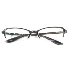 【中古】フォーナインズ 999.9 メガネフレーム 伊達眼鏡 めがね アイウェア セルフレーム ハーフリム NPN-901 黒系 メンズ 【ベクトル 古着】|vectorpremium