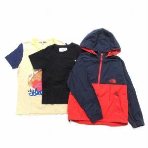 【中古】キッズ ベビーファッション 3点 セット コンパクトジャケット Tシャツ 男の子 子供 ネイビー 赤 125 130 140 ECR2 キッズ 【ベクトル 古着】|vectorpremium