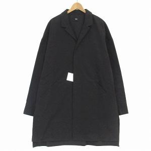 【中古】ヴウ VU 21SS 完売 シャツ コート long shirt ビック シルエット ロング 比翼 黒 ブラック 2 vu-s02-s03 アウター メンズ 【ベクトル 古着】|vectorpremium