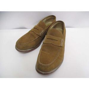 リー LEE レザー スリッポン シューズ 26.5cm 茶 ブラウン 靴 メンズ【中古】【ベクトル 古着】