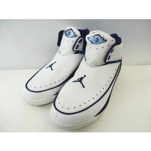 ナイキ NIKE エアジョーダン2 シューズ スニーカー  NU 2 II High Retro 306152-144 白 青 サイズ27cm メンズ【中古】【ベクトル 古着】|vectorpremium