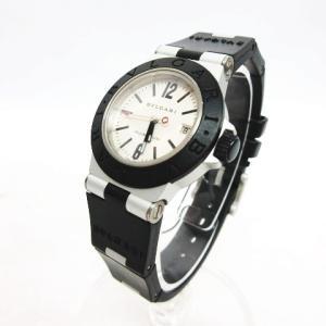 ブルガリ BVLGARI 腕時計 クォーツ ディアゴノ アルミニウム ラバー ウォッチ シルバー ブラック/AL 29 TA レディース【中古】【ベクトル 古着】|vectorpremium