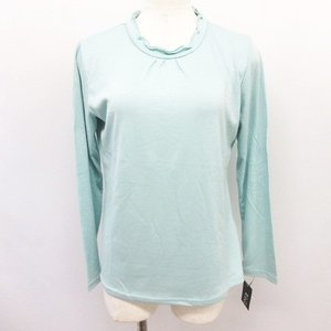 【中古】未使用品 Echo71/エコー フリル ネック カットソー Tシャツ トップス ライトグリー...