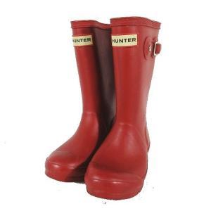 【中古】ハンター HUNTER レインブーツ ラバーブーツ 長靴 W23500 UK10 赤 レッド ◎H12 キッズ 【ベクトル 古着】|vectorpremium