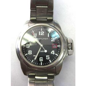 ハミルトン HAMILTON 6309 カーキ Khaki 腕時計 デイト 手巻き ブレスレットタイプ SS メンズ【中古】【ベクトル 古着】 vectorpremium