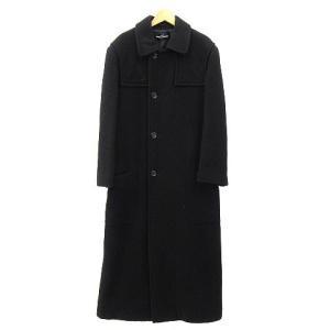 トリココムデギャルソン tricot COMME des GARCONS コート ステンカラー ロング ウール AD1996 ブラック 黒 180828Z レディース【中古】【ベクトル 古着】