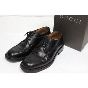 グッチ GUCCI シューズ 靴 ビジネスシューズ レースアップ レザー 39 1/2 黒 ブラック /C   メンズ【中古】【ベクトル 古着】|vectorpremium