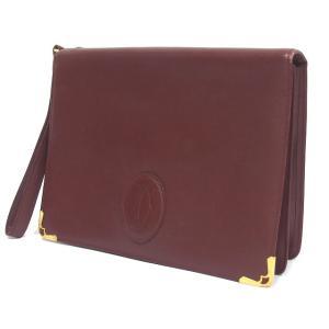 カルティエ Cartier バッグ 鞄 クラッチ セカンドバッグ ハンドバッグ レザー マストライン ボルドー /C メンズ レディース【中古】【ベクトル 古着】