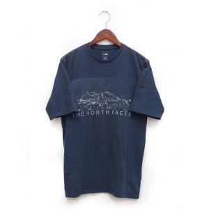 【中古】ザノースフェイス THE NORTH FACE Tシャツ カットソー 半袖 丸首 11SS プリント ロゴ コットン 綿 S ネイビー 紺 /K メンズ 【ベクトル 古着】 vectorpremium