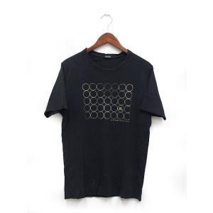 【中古】バーバリーブラックレーベル BURBERRY BLACK LABEL 国内正規 Tシャツ カットソー 半袖 Vネック 箔プリント 2 ブラック 黒 /K メンズ 【ベクトル 古着】 vectorpremium