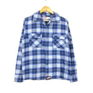 エクストララージ X-LARGE ネルシャツ ワークシャツ 長袖 チェック 灰色 紺 M  メンズ【中古】【ベクトル 古着】|vectorpremium