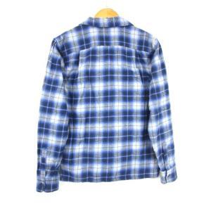 エクストララージ X-LARGE ネルシャツ ワークシャツ 長袖 チェック 灰色 紺 M  メンズ【中古】【ベクトル 古着】|vectorpremium|02