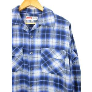エクストララージ X-LARGE ネルシャツ ワークシャツ 長袖 チェック 灰色 紺 M  メンズ【中古】【ベクトル 古着】|vectorpremium|03