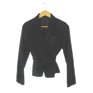 41a01fc405dd ユニクロ UNIQLO シングルジャケット ウール アンゴラ混 アウター 長袖 黒 ブラック M レディース【中古】【ベクトル 古着】