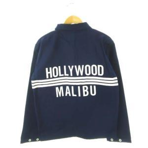 【中古】ナルトトランクス×HOLLYWOOD TO MALIBU コラボ ビーチジャケット 紺 ネイ...