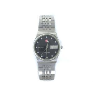【中古】ラドー RADO ボイジャー VOYAGER 70's 腕時計 自動巻き デイデイト アンティーク 黒 シルバー メンズ 【ベクトル 古着】|vectorpremium