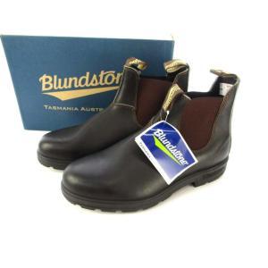 【中古】未使用品 ブランドストーン Blundstone サイドゴア ブーツ BS500 レザー ス...