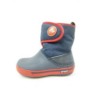 クロックス crocs ベビー ブーツ スノー ナイロン ネイビー 紺 8【中古】【ベクトル 古着】