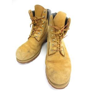 ティンバーランドTimberland ブーツショートワークイエローヌバック9.5 W メンズ 中古  ベクトル古着 da2ec74ee3c2