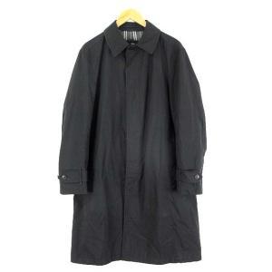 バーバリーブラックレーベル BURBERRY BLACK LABEL  ステンカラー コート ナイロン 裏ノバチェック size L 黒 K-6857 メンズ【中古】【ベクトル 古着】|vectorpremium