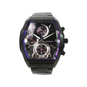 セイコー SEIKO ワイアード WIRED 腕時計 クロノグラフ デイト クォーツ 3針 ステンレス ベルト 10気圧防水 VR33-0AB0 黒 紫 メンズ【中古】【ベクトル 古着】|vectorpremium