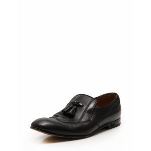 グッチ GUCCI ローファー スリッポン 革靴 タッセル 黒 ブラック 27.5cm シューズ 8.5 レザー 271299 メンズ【中古】【ベクトル 古着】|vectorpremium