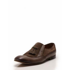 グッチ GUCCI ローファー スリッポン 革靴 タッセル 茶色 ブラウン 27cm シューズ 8.5 レザー スエード 271299 メンズ【中古】【ベクトル 古着】|vectorpremium