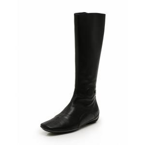 ミュウミュウ miumiu ロングブーツ 黒 23.5cm ...