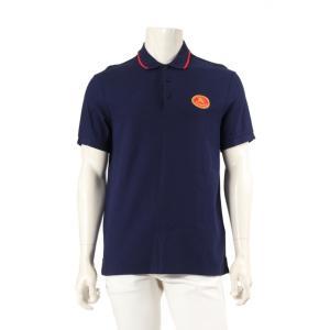 バーバリー BURBERRY ポロシャツ ネイビー 赤 L トップス 半袖 ロゴ刺繍 8002912...