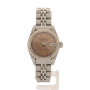 ロレックス ROLEX 腕時計 デイトジャスト 自動巻き シルバー 79174 SS K18WG サファイアクリスタル ピンク文字盤 レディース【中古】【ベクトル 古着】|vectorpremium