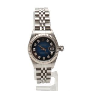 ロレックス ROLEX 腕時計 デイトジャスト 自動巻き シルバー 69174G SS K18WG ブルーグラデーション文字盤 W番 新型10Pダイヤ|vectorpremium