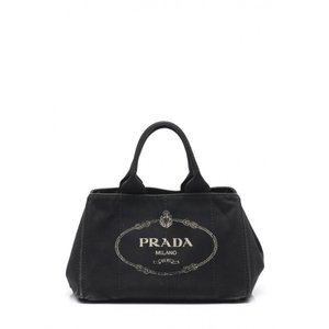 プラダ PRADA トートバッグ カナパ 黒 キャンバス CANAPA  レディース 【中古】【ベクトル 古着】|vectorpremium