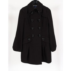 【中古】バーバリーブルーレーベル BURBERRY BLUE LABEL コート 黒 38 アウター...