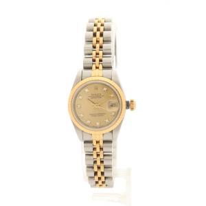 【中古】ロレックス ROLEX 腕時計 自動巻き デイトジャスト レディース シルバー ゴールド 69173G SS K18YG 10Pダイヤ レディース 【ベクトル 古着】|vectorpremium