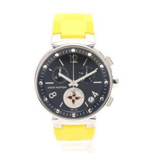 【中古】ルイヴィトン LOUIS VUITTON メンズ 腕時計 クオーツ タンブール ムーンスターGM シルバー 黄 Q8D11 SS ラバー メンズ 【ベクトル 古着】|vectorpremium