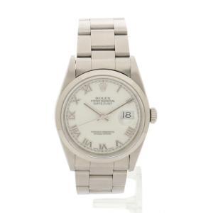 【中古】ロレックス ROLEX 腕時計 デイトジャスト メンズ シルバー 16200 SS ホワイトローマン T番 メンズ 【ベクトル 古着】|vectorpremium