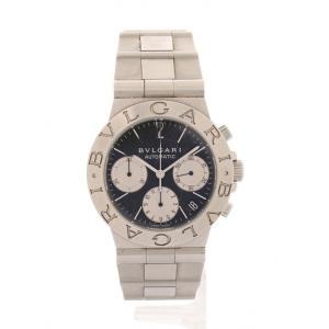 【中古】ブルガリ BVLGARI 腕時計 自動巻き ディアゴノ スポーツ メンズ シルバー CH35...
