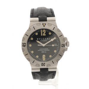 【中古】ブルガリ BVLGARI 腕時計 メンズ 自動巻き ディアゴノスクーバー シルバー 黒 SD...
