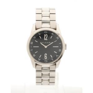 【中古】ブルガリ BVLGARI 腕時計 メンズ クオーツ ソロテンポ シルバー ST37S SS ...
