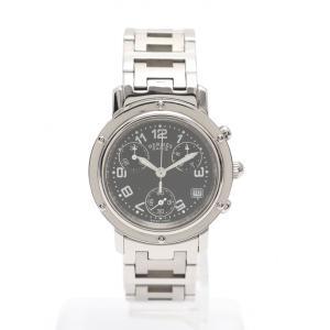 【中古】エルメス HERMES 腕時計 レディース クオーツ クリッパークロノ シルバー CL1.3...