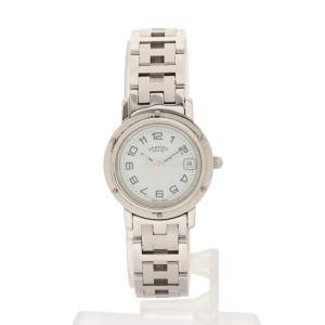 【中古】エルメス HERMES 腕時計 クリッパー レディース シルバー CL4.210 SS 白文...