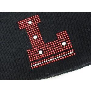 ハイエルディーケー 81LDK ニットキャップ ニット帽 ラインストーン リブ 黒 ◆NK-8537 ◆08 メンズ【中古】【ベクトル 古着】|vectorpremium|05